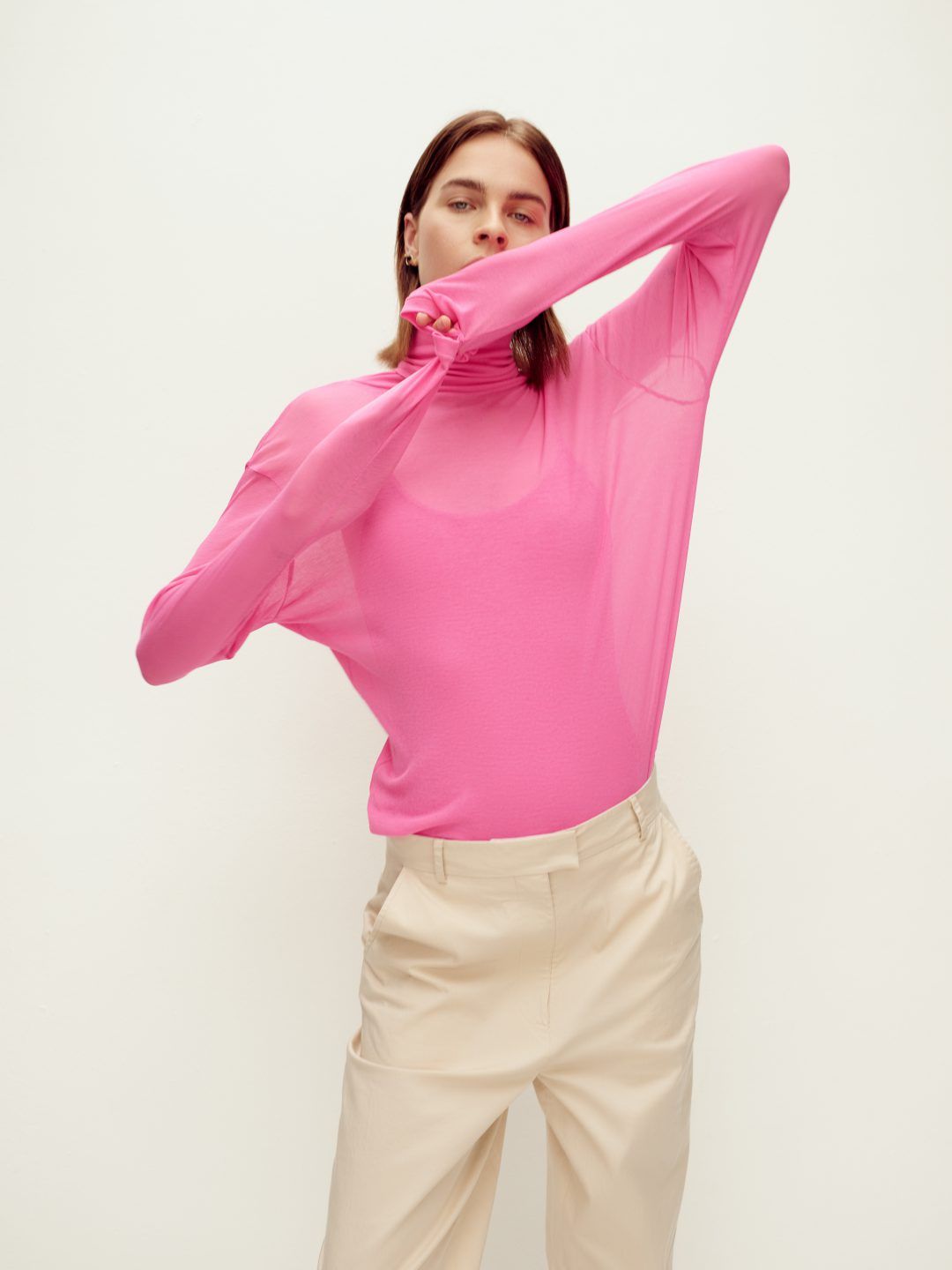 DALLY ROLL NECK PINK RIKA STUDIOS